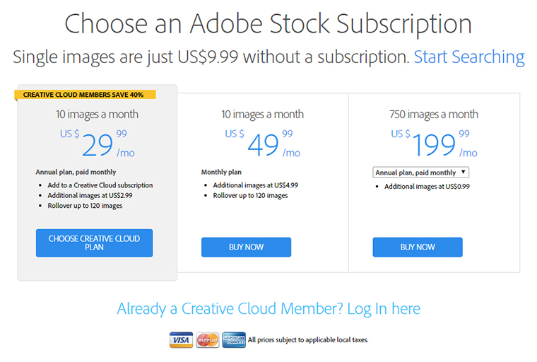 adobe stock plans and pricing